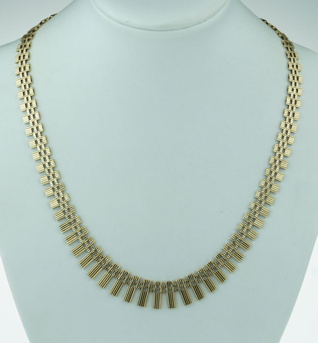 Zonnecollier - 14 kt. Gold - Necklace with pendant
