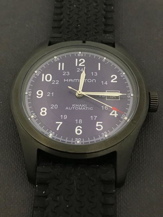 "Hamilton - Khaki Military Field Custom Black PVD Case - ""NO - H705450 - 男士 - 2011至现在"