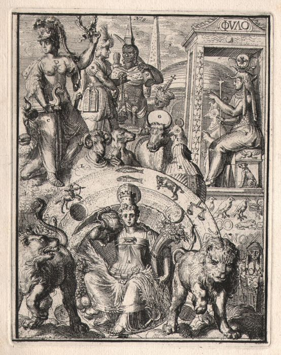 Romeyn de Hooghe (1645-1708)  - The power of heaven and earth from  'Hieroglyphica'