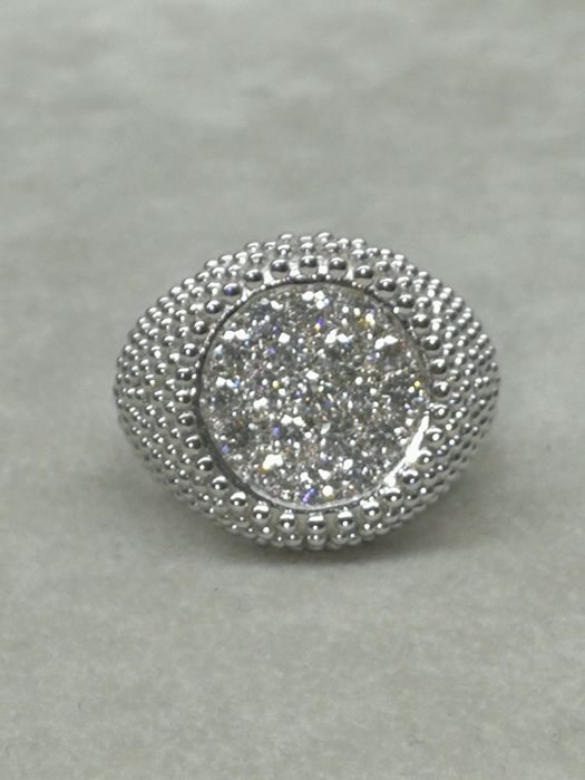 18 kt. White gold - Ring - 1.00 ct Diamond - Diamond