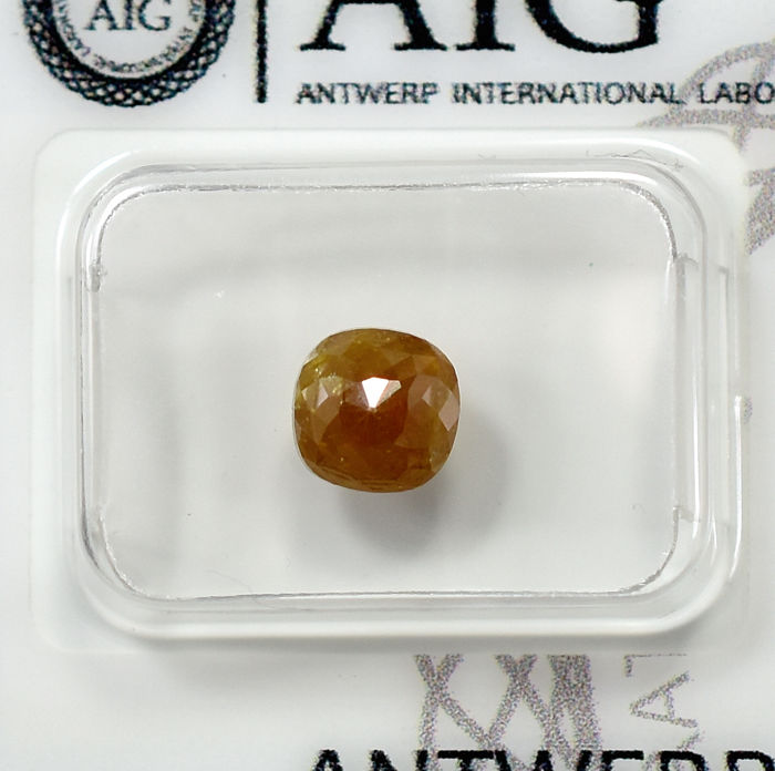 Diamante - 1.41 ct - Cojín - Intense Orangy Brown - N/A - NO RESERVE PRICE