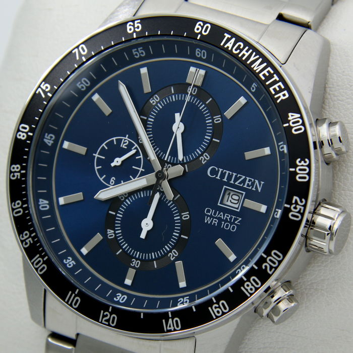 "Citizen - Cronograph 100M ""Blue Dial"" - New - ""NO RESERVE PRICE"" - Homme - 2018"