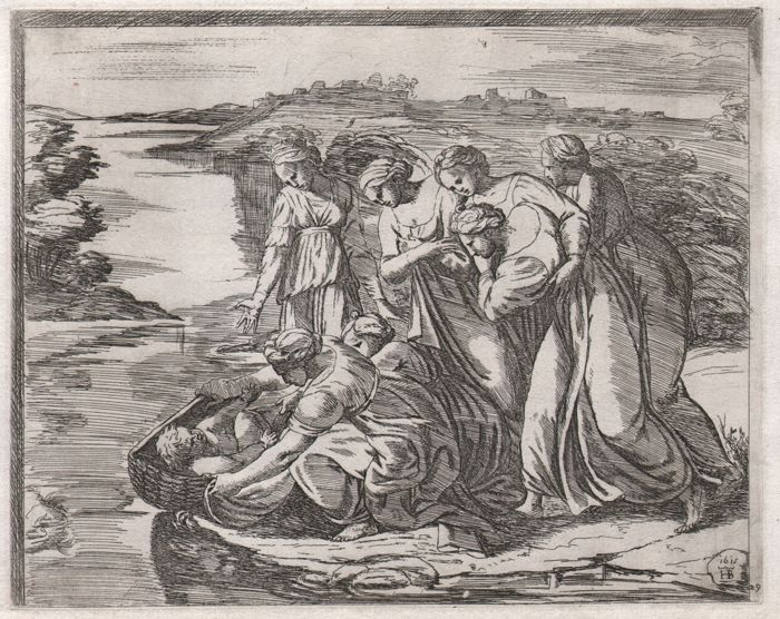 Raphael ( 1483-1520 ) by Borgianni ( 1578-1616 ) - The finding of Moses