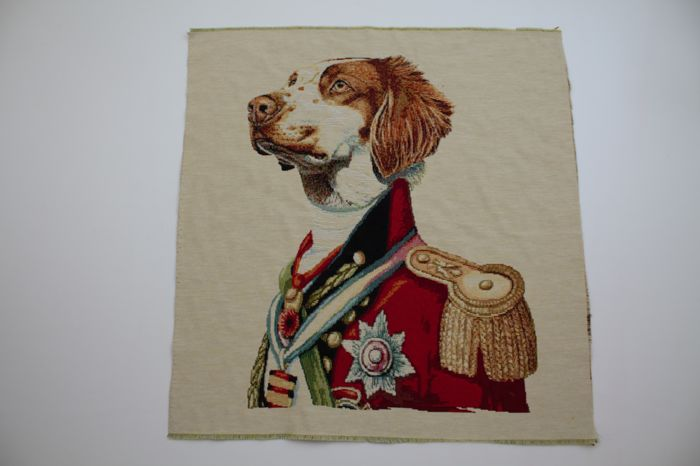 3 PZ Prestigious tapestries of gobelin lord dog fabric - cotton blend, textile, canvas, stoff, tissu, texture