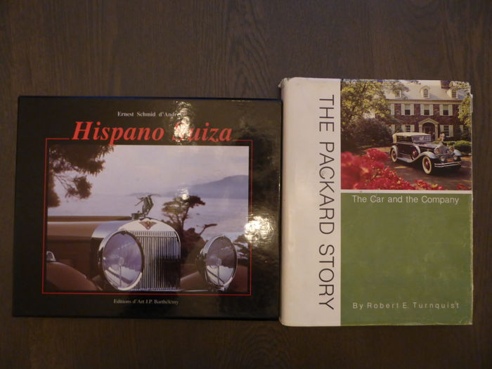 Boeken - Lot: 2 books on Packard and Hispano Suiza - 1965-1977 (2 items)