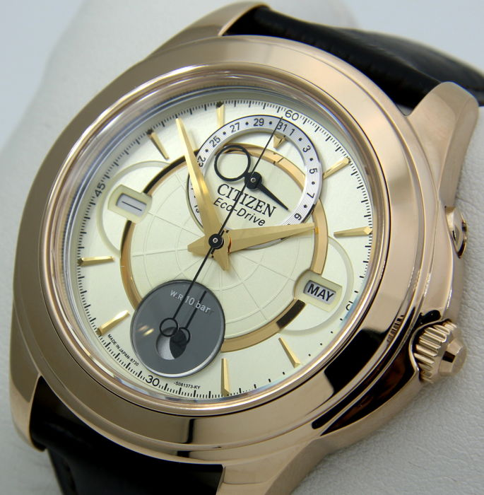 "Citizen - Eco Drive Moon Phase ""Gold Dial"" - New - Heren - 2011-heden"