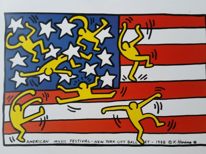 Keith Haring - 5x Keith Haring Prints - 1990‹erne