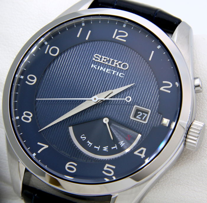 "Seiko - Kinetic 100M ""Blue"" - ""NO RESERVE PRICE"" - Heren - 2018"