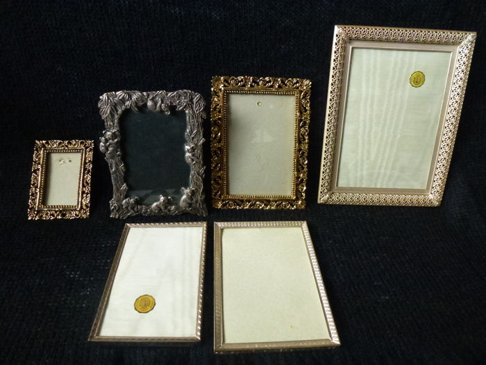Collection of silver-plated photo frames (6) - Silverplate - Australia, the Netherlands - 1950-1999