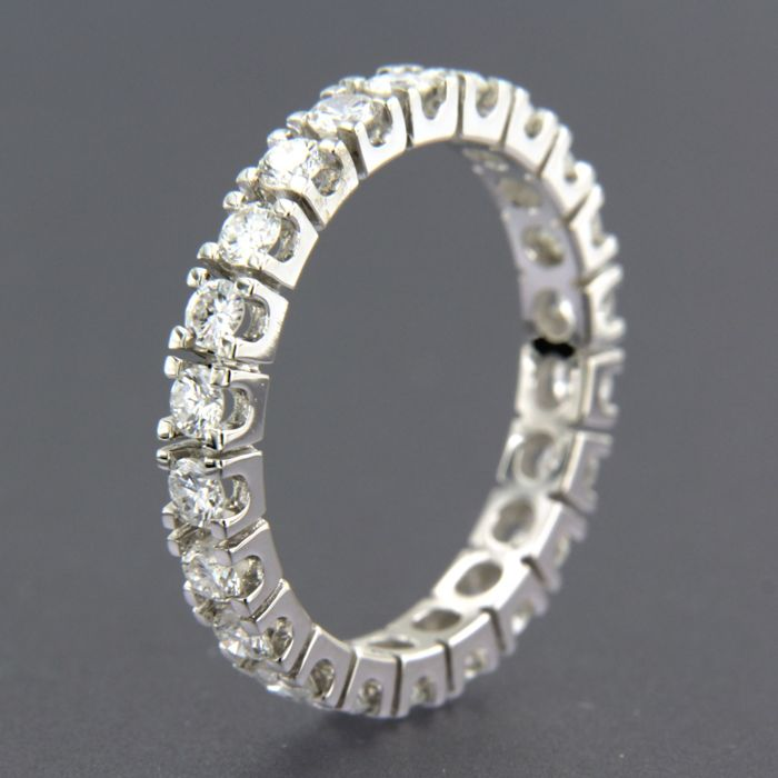 14 quilates Oro blanco - Anillo - 2.45 ct Diamante