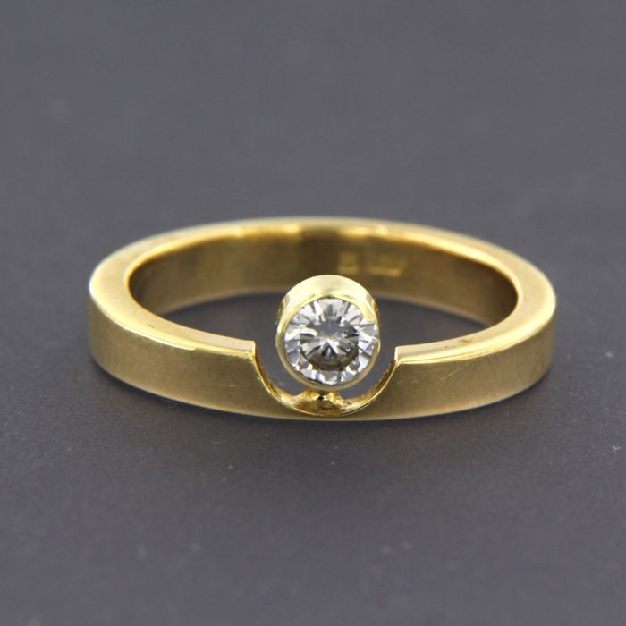 14 karaat - Ring - 0.25 ct Diamant