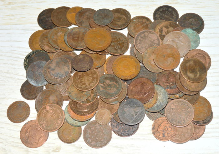 World - Lot various of coins 18/20th century (100 pieces)