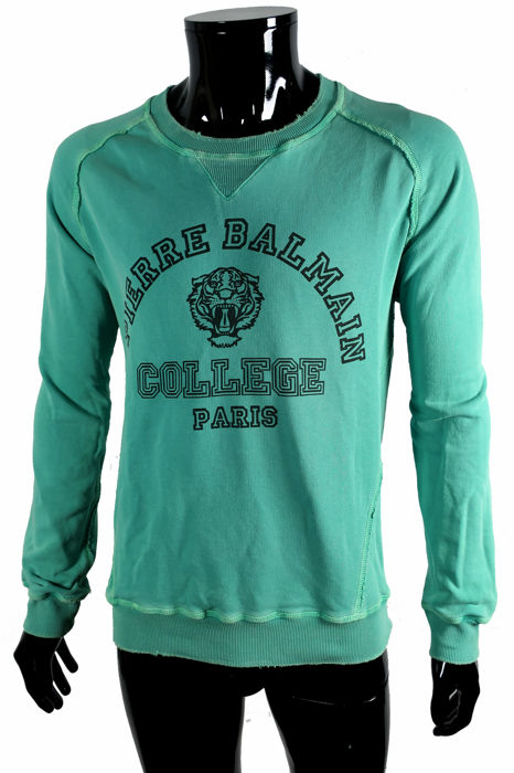 Pierrre Balmain - Distressed College Sweater - Size: IT48/50  Maat M/L