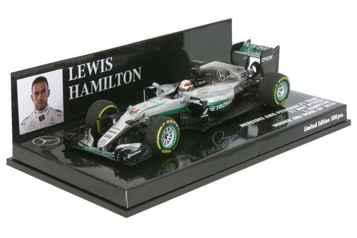 MiniChamps - 1:43 - Mercedes AMG Petronas F1 Team F1 W07 Hybrid L. Hamilton Winner Abu Dhabi GP 2016 - Limited Edition or 500 pcs.