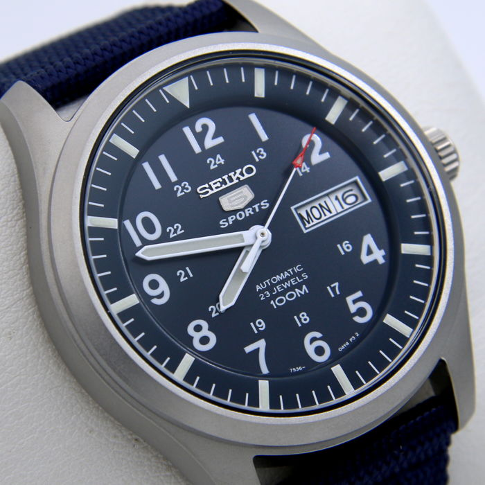 """Seiko - Automatic 23 Jewels 100M Blue - """"NO RESERVE PRICE"""" - Homme - 2018"""