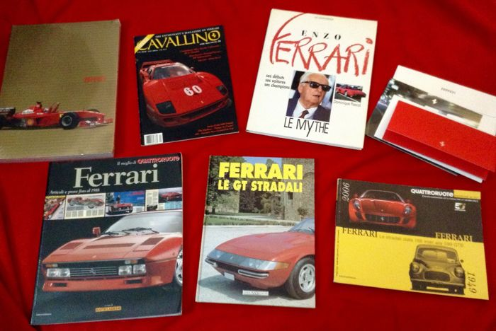 rare Ferrari Greeting Cars and other publications - F1 Greetings Cards + some nice Books + Cavallino #56 - 1990-2012 (8 items)