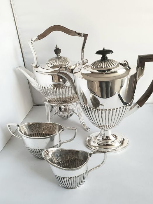 Tea service (5) - Silverplate - Ireland - 1900-1949