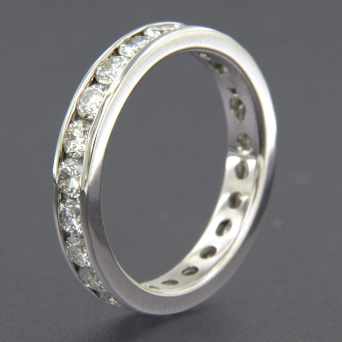 14 karat Hvitt gull - Ring - 2.24 ct Diamant