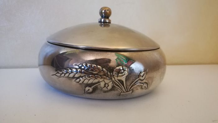 Jewelery box in inlay in silver foil (1) - Silver plated - Italy - 1975-2000