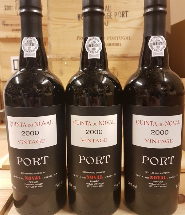 2000 Quinta do Noval Vintage Port - 3 Bottles (0.75L)