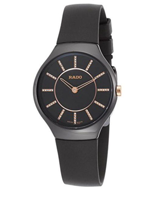 Rado - True Thinline Black Diamond Dial Rubber Strap Quartz - 01.420.0742.3.170 - Unisex - 2018