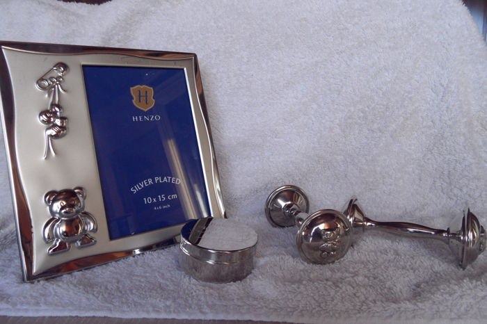 Silver plated rattles - tooth box - photo frame - Silver plated - . - 1950-1999