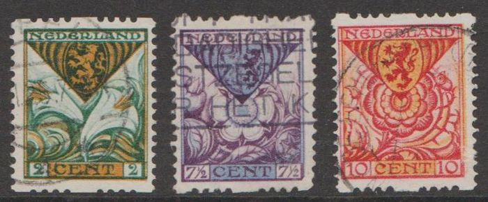 Pays-Bas 1925 - Syncopation Children's Aid, thick perforation - NVPH R71e/R73e