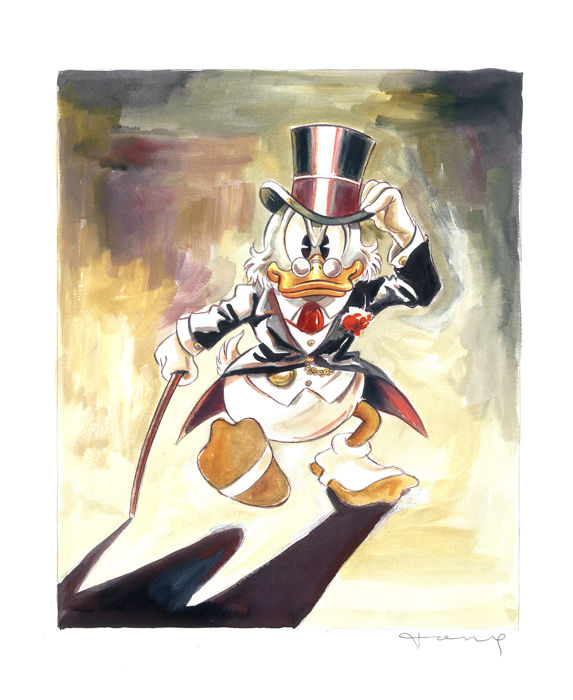 Uncle Scrooge inspired by Carl Barks - Original Painting - Tony Fernandez  - First edition