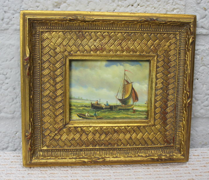 8d308eb5aee Gold-plated decorative frames with oil painting (6) - gilded wood ...