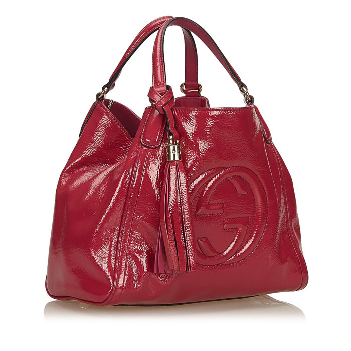 a5bbbb2fe Gucci - Soho Patent Leather Tote Bag - Catawiki