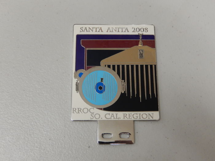 Badge - Santa Anita So.Cal RROC Rolls Royce Motor Club Car Badge - 2008