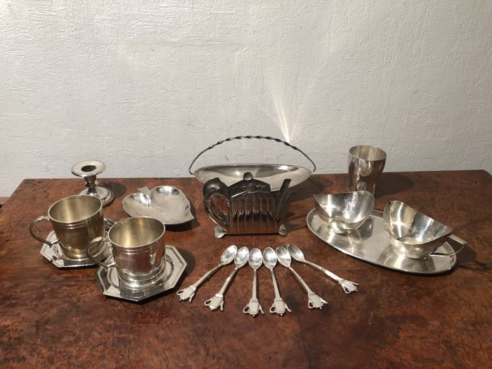 The english breakfast - Silver plated - Germany - 20th century
