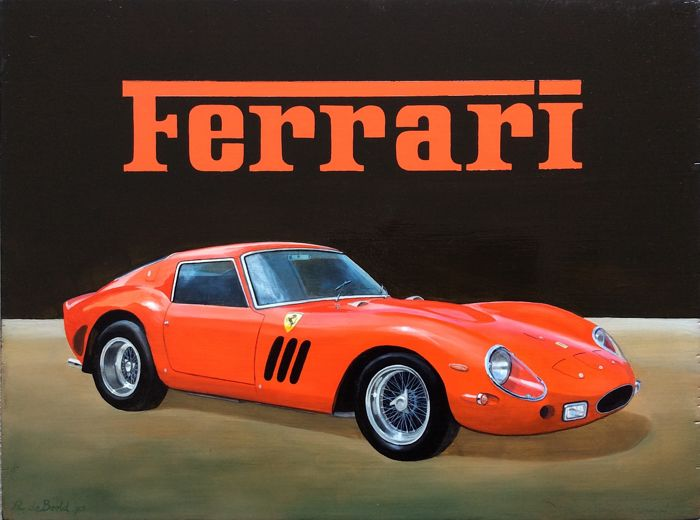 Decorative object - Ferrari 250 GTO schilderij - 1993-1993