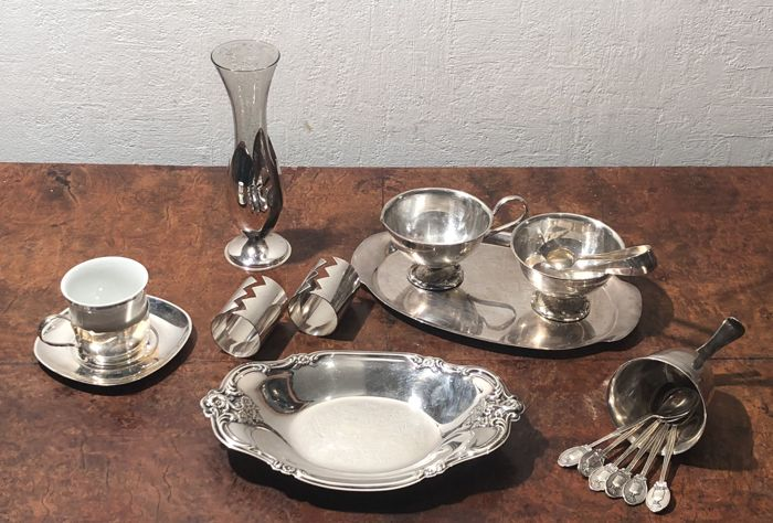 The english breakfast Art Deco - Silver plated - U.K. - late 20th century