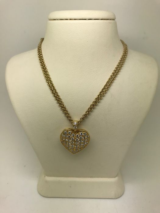 14 kt. - Necklace with pendant