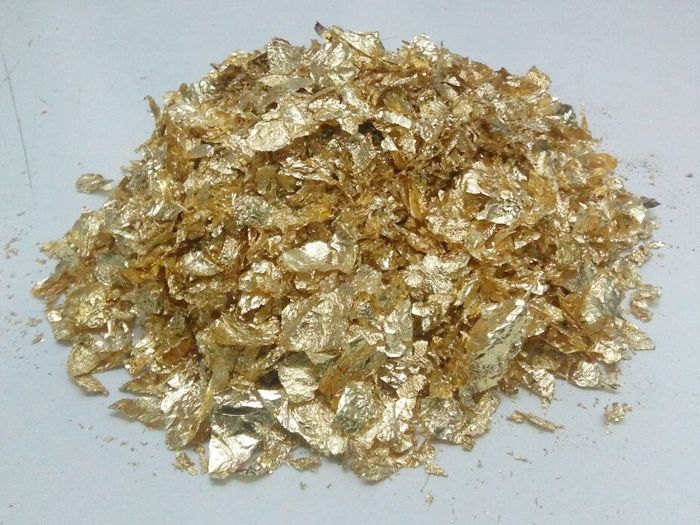 Chapin - Art Deco - Chapin gold leaf a bag Approx, 15 gm. glue 100 g. pince