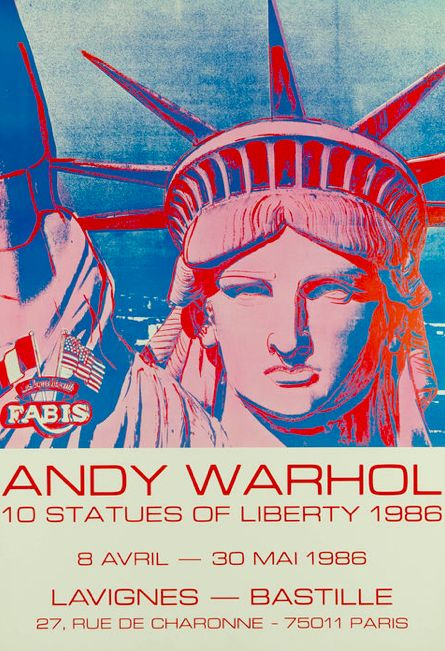 Andy Warhol - 10 statues of liberty - 1986