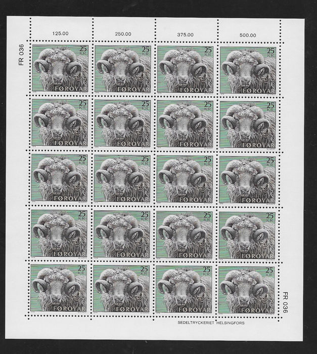 Faroe and Greenland 1975/85 - Complete sheets, blocks of 4 and 6 - Yvert 1/114