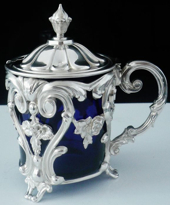 Immaculate Condition Mustard Pot - .950 silver - Alphonse Debain - France - 1911-1916