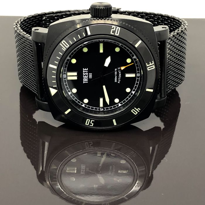 Trieste - Automatic Diver Deep Sea Black PVD + 2 EXTRA Strap - Men - 2011-present