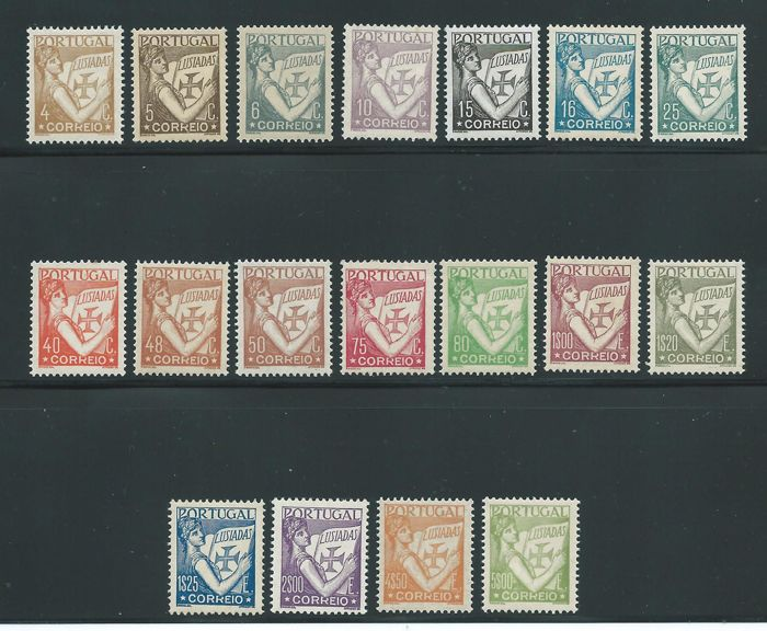 Portugal 1931 - Lusiadas. Complete set and registered letter. - Mundifil 513/530