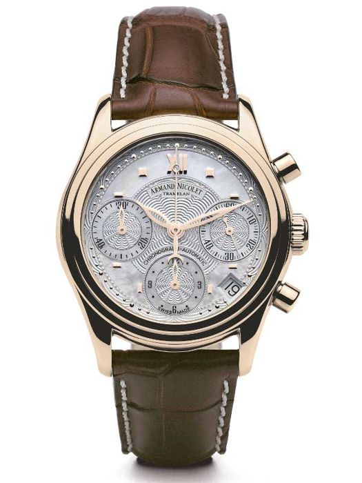 Armand Nicolet - M03 Date Chronograph 18kt Gold - 7154A-AN-P915MR8 - Mujer - 2011 - actualidad