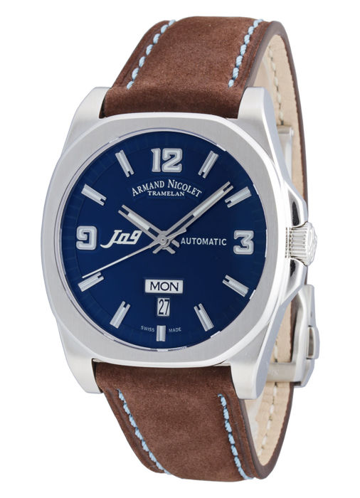 Armand Nicolet - J09 Day & Date Automatic - 9650A-BU-P865MZ2 - Heren - 2011-heden