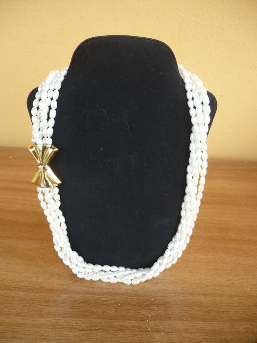 Valenza po  - 18 kt. Freshwater pearls, Gold - Necklace Pearl