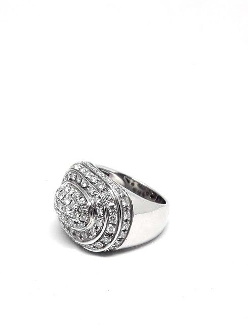18 kt. White gold - Ring - 2.90 ct Diamond