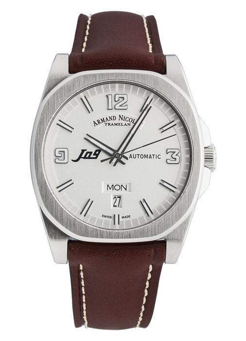Armand Nicolet - J09 Day&Date Automatic - 9650A-AG-PK2420MR - Heren - 2011-heden