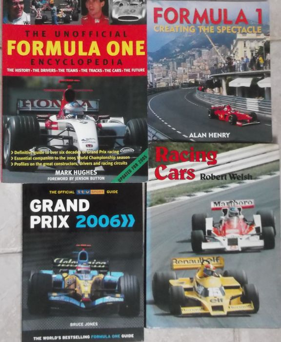 Boeken - Formula one Grand Prix Racing Books x 4 - 1960 (4 items)