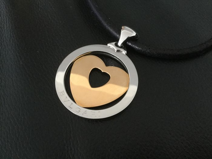 Bvlgari - 18 kt. gold with steel chain - Necklace with pendant