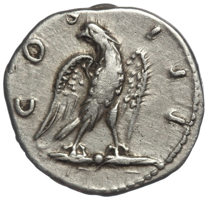 Roman Empire - Denarius - Hadrian (AD 117-138) - Eagle standing facing right - Silver