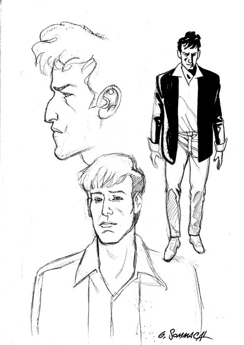 Dylan Dog - G. Sommacal - original sketch - Loose page - First edition